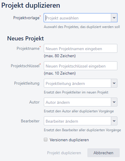 Duplicate Project For Jira