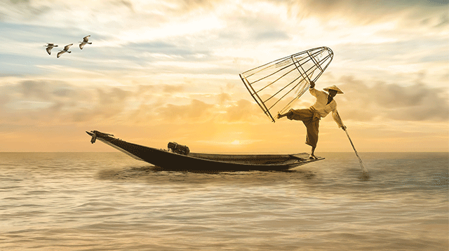 Japanischer Fischer